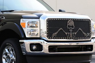 "T-Rex® - 3-Pc Urban Assault ""Grunt"" Flat Black Mesh Grille"