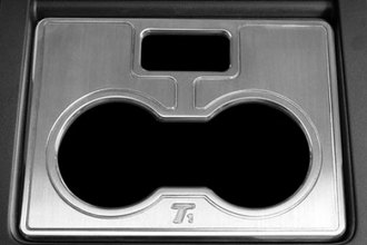 T-Rex® 11051 - T1 Series Billet Brushed Center Console Cell Phone/Cup Holder