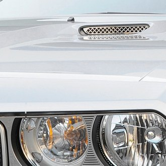 T-Rex® - 2-Pc T1 Series Mesh Look Polished Hood Scoop Grille