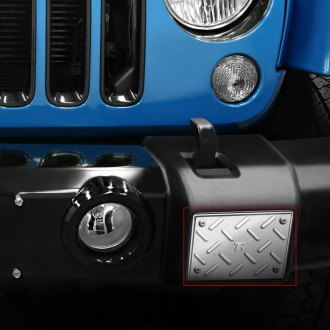 T-Rex® - 2-Pc T1 Series Machined Billet Front Bumper Guards Plate