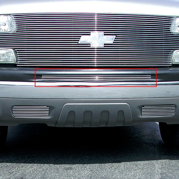 T-Rex® - 1-Pc Horizontal Polished Billet Top Pad Bumper Grille