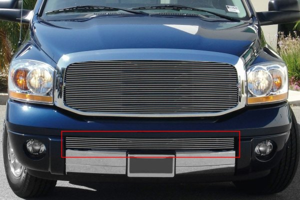 T-Rex® - Polished Billet Bumper Grille (Tow Hooks Must Be Removed)
