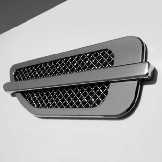 T-Rex® - 2-Pc Upper Class Series Escalade Style Chrome Plated Side Vent Grilles