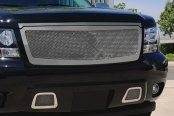 T-Rex® - 1-Pc Upper Class Polished Mesh Grille - With Hood Trim