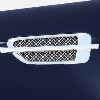 T-Rex® - 2-Pc Upper Class Series Polished Mesh Side Vent Grilles