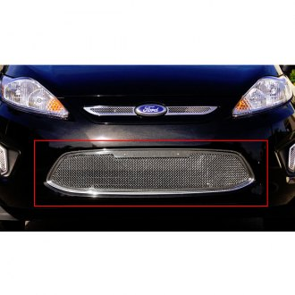 T-Rex® - 1-Pc Upper Class Series Polished Mesh Bumper Grille