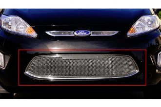 T-Rex® 55588 - 1-Pc Upper Class Series Polished Mesh Bumper Grille