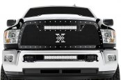 T-Rex® - Torch Series Black Mesh Grille with LED Lights - 1500