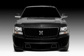 T-Rex® - 1-Pc X-Metal Series Black Studded Mesh Main Grille