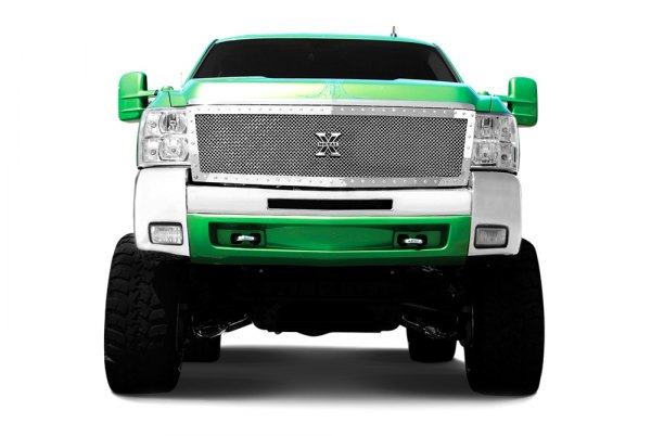 T-Rex® - 1-Pc X-Metal Series Custom Style Polished Studded Mesh Main Grille