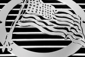 Image may not reflect your exact vehicle! T-REX� - 'US Flag' Universal Grille Badge