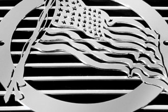 T-Rex® L1001 - US FLAG Polished Grille Badge