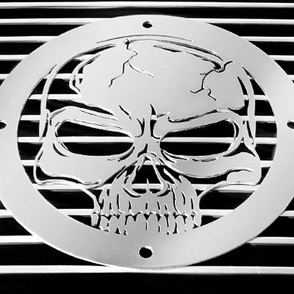 T-Rex® - Skull Polished Grille Badge