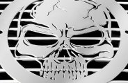 T-Rex® L1009 - Skull Polished Grille Badge