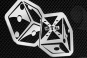 "T-Rex® - X-Metal Series ""The Hustler"" Dice Chrome Grille Badge"