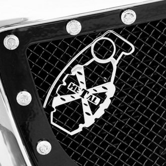 T-Rex® - Urban Assault Grunt Chrome Grenade Grille Badge