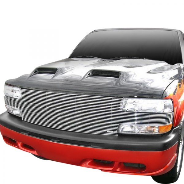 "T-Rex® - 1-Pc ""Full Face"" Polished Horizontal Billet Main Grille"