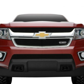 2015-2017 Chevy Colorado Chrome Grille Grill Insert Overlay Trim