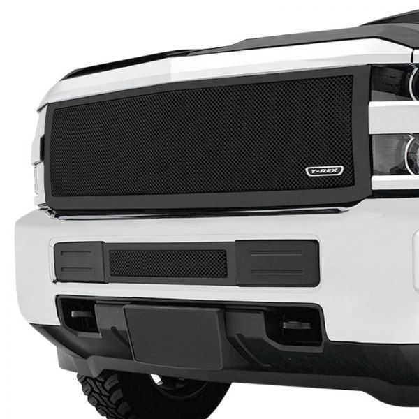 T-Rex® - 1-Pc Upper Class Series Full Opening Style Black Powder Coated Formed Mesh Main Grille