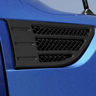 T-Rex® - 2-Pc X-Metal Series Black Side Vent Grilles