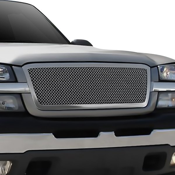 T-Rex® - 1-Pc Upper Class Series Full Opening Style Polished Mesh Main Grille