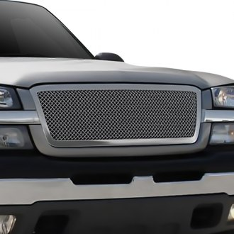 T-Rex® - 1-Pc Upper Class Series Full Opening Style Polished Mesh Grille