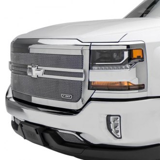 T-Rex® - 1-Pc Upper Class Series 2 Bar Design Polished Mesh Grille