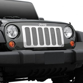 T-Rex® - 1-Pc Upper Class Series 6-Pc Look Polished Formed Mesh Main Grille
