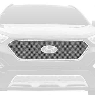 T-Rex® - 1-Pc Upper Class Series Full Opening Style Polished Formed Mesh Main Grille