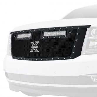 "T-Rex® - 1-Pc Torch Series Black Formed Mesh Grille with 2 x 12"" LED Light Bars"