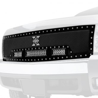 "T-Rex® - 1-Pc Torch Series Black Formed Mesh Grille with 1 x 12"" and 2 x 6"" LED Light Bars"