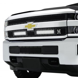 "T-Rex® - 2-Pc Stealth Torch Series Black Formed Mesh Grille with 2 x 12"" LED Light Bars"