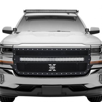 "T-Rex® - 1-Pc Torch Series Black Formed Mesh Grille with 1 x 40"" Middle Frame Mounted LED Light Bar"