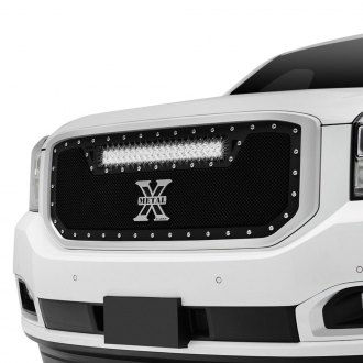 "T-Rex® - 1-Pc Torch Series Black Formed Mesh Grille with 1 x 20"" LED Light Bar"