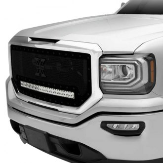 "T-Rex® - 1-Pc Stealth Torch Series Black Formed Mesh Grille with 1 x 30"" Bottom Frame Mounted LED Light Bar"