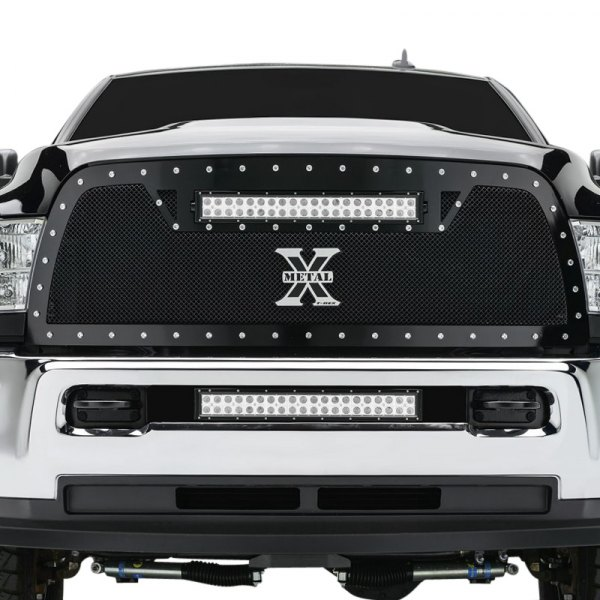 T-Rex® - 1-Pc Torch Series Black Powder Coated Formed Mesh Main Grille