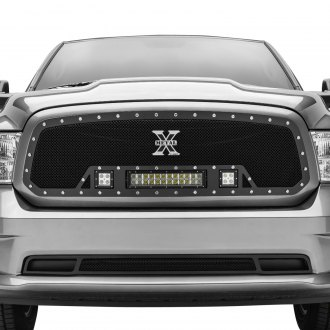 "T-Rex® - 1-Pc Torch Series Black Formed Mesh Grille with 1 x 12"" LED Light Bar and 2 x 3"" LED Light Cubes"