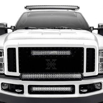 "T-Rex® - 3-Pc Stealth Torch Series Black Formed Mesh Grille with 1 x 20"" LED Light Bar"