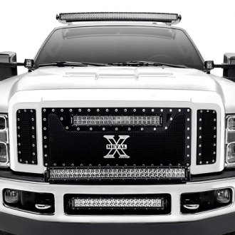 "T-Rex® - 3-Pc Torch Series Black Formed Mesh Grille with 1 x 20"" LED Light Bar"