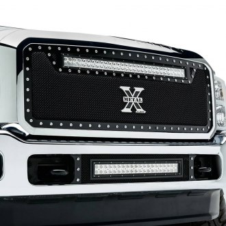 "T-Rex® - 1-Pc Torch Series Black Formed Mesh Grille with 1 x 30"" LED Light Bar"