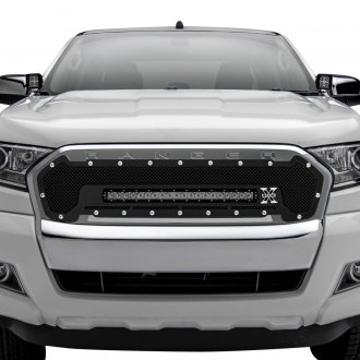"T-Rex® - 1-Pc Torch Series Black Formed Mesh Main Grille with 1 x 20"" Slim LED Light Bar"