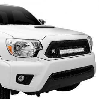 "T-Rex® - 1-Pc Stealth Torch Series Black Formed Mesh Grille with 1 x 20"" LED Light Bar"