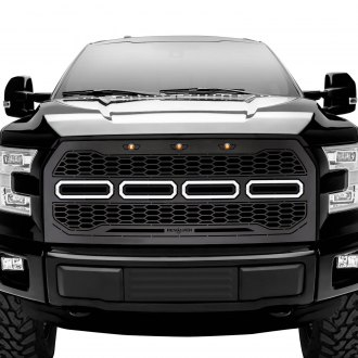 T-Rex® - 1-Pc Revolver Series Raptor-Style Black CNC Machined Grille