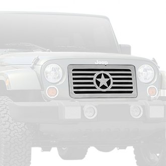 T-Rex® - 1-Pc Custom Center Star Design Polished Billet Grille