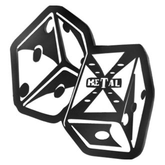 "T-Rex® - X-Metal Series ""The Hustler"" Dice Black Grille Badge"
