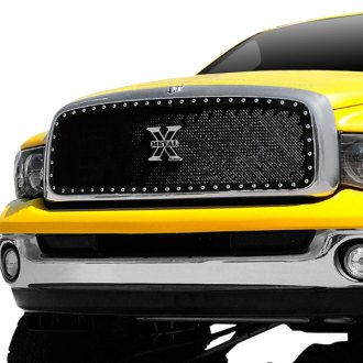 T-Rex® - 1-Pc X-Metal Series Full Opening Style Black Mesh Grille