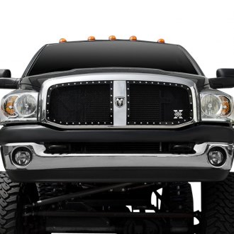 T-Rex® - 2-Pc X-Metal Series Custom Opening Black Mesh Grille
