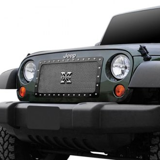 T-Rex® - 1-Pc X-Metal Series Custom Style Polished Formed Mesh Main Grille