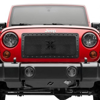 T-Rex® - 1-Pc Stealth Metal Series Custom Style Black Formed Mesh Main Grille