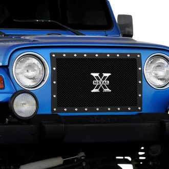 T-Rex® - 1-Pc X-Metal Series Custom Style Black Mesh Grille